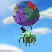 Flying octopus by D3rw3n