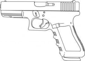 Glock G18 Sketch by MarcusMcCloud100