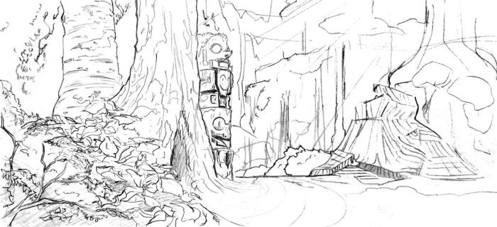 Forest Layout 001: Linework by MemorySoul