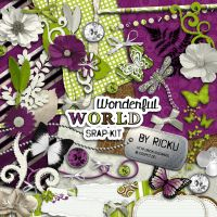 Wonderful World Scrap-Kit by Rickulein