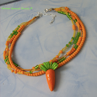 Carrot set: necklace by kickthebucket