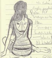 Notebook Sketch--Girl 2 by Chichiro