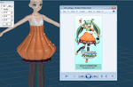 Pumpkin Miku Modeling Earliest WIP by Malik-Hatsune