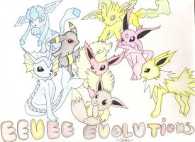 Eevee Evolutions by YamakaiYoko