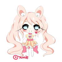 Chibi commission for BuniiChu by Miyee