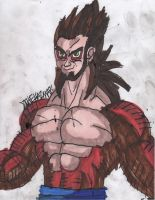 Self-Portrait: SSJ4 by ChahlesXavier