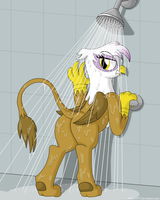 After Exercise Shower by Drako1997