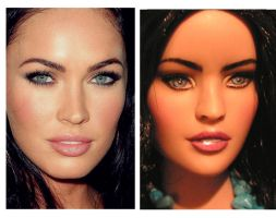 Megan Fox OOAK Doll Repaint by ShannonCraven