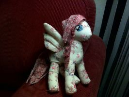 Fluttershy rag doll view 1 by joitheartist