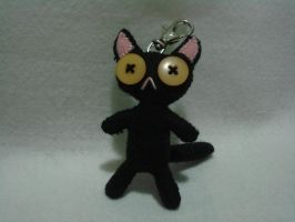 Black Cat Plush front by vonBorowsky