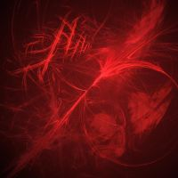 Red Flame Fractal Background by Kethaera