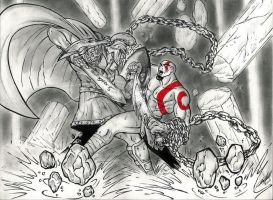 Perseus  Vs.  Kratos by Ph03n1x77
