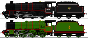 Stanier Class 5 and Henry Sprites by omega-steam