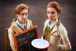 Bioshock Infinite: The Lutece Twins by galaxyshiba