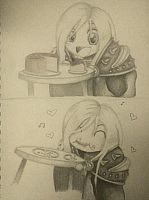 Arthas Eating Cake by adryan-jenkins