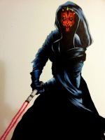 Darth Maul by underneath-the-paint