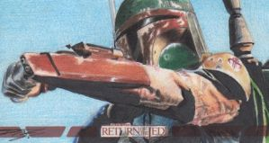 Star Wars ROTJ 3D - Boba Fett Sketch Art Card RC1 by DenaeFrazierStudios