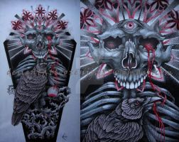 Tattoo design - Tanatos or Instinct of Death by Xenija88