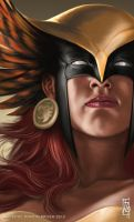 Hawkgirl Headshot by earache-J