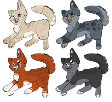 Warrior cat adopts [3/4 open] by thedoomedkitteh