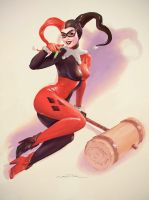 Harley Quinn - Life is A Party - Elvgren Tribute by fantasio