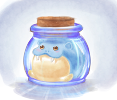 Spheal in a Jar. by shiwizilla