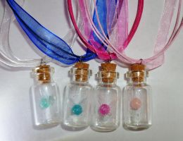 GLOW-in-the-Dark Zelda Bottled Fairy Necklaces by Linksliltri4ce