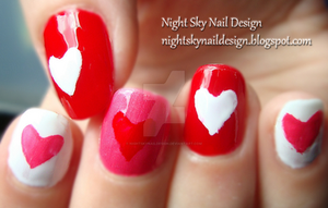 Valentines Day Hearts by nightskynaildesign