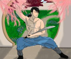 The Prince of Xing at Practice by Raelae