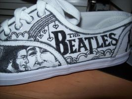 Beatles Shoes WIP 5 by bexonfire