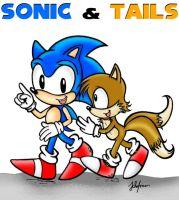 Sonic and Tails by Dark-Jessa