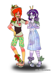 Flowerful Fashionistas by pixiesera