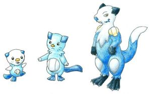Fakemon: Mijumaru Evolutions by Tyltalis