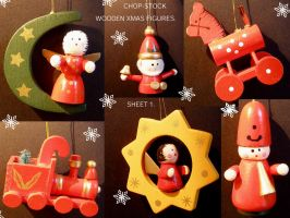 Wooden Xmas Figures 1 by chop-stock