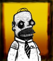 homer simpson by the-war-in-my-head