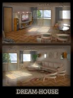 A dream house in 3D by Dday007
