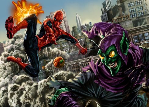 Spidey Vs Goblin Lee Bermejo Omi Remalante by spidey0318