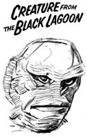 The Creature from the Black Lagoon by StevenEly