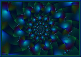 Spiral Blue by LaxmiJayaraj