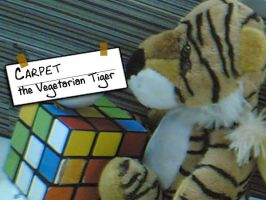 Carpet the vegan tiger by johnblitz