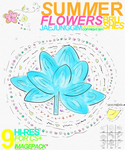 Summer Flowers Brushes by enhancers
