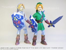 Papercraft OoT Link: you're not a Paladin!! by ninjatoespapercraft