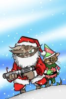 Kitty Christmas Card '06 by grantgoboom