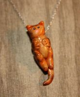 Orange Tabby Necklace by Aluciel286