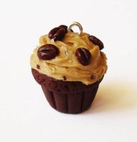 Coffee Lovers Cupcake Charm by FatallyFeminine