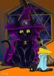 Halloween Black Cat by Alsheeny