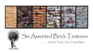 Twisted Mind 6 Assorted Brick Textures Pack 2 by Textures-and-More