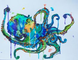 Frootloop the Octopus by blaqkfiend