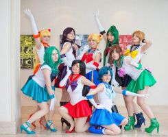 Sailor Scouts I by JustPeachyCosplay