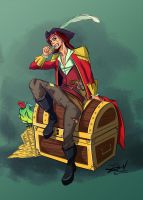 Pirate and his booty. by Kira09kj